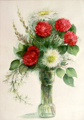 Arrangement in Red and White
